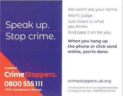 Crimestoppers Card