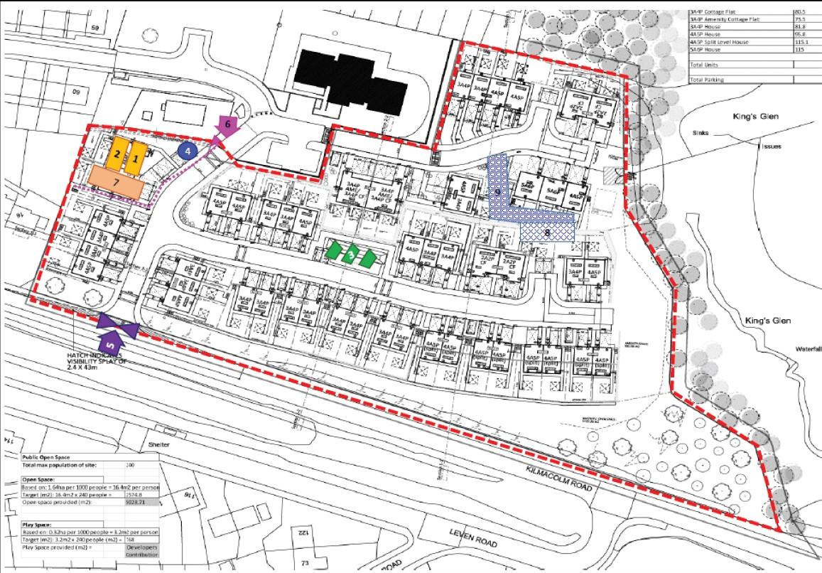 Kings Glen site plan